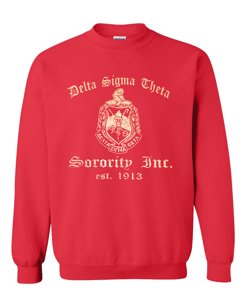 ΔΣΘ Sorority Inc. 1913 Shield Crewneck Sweatshirt