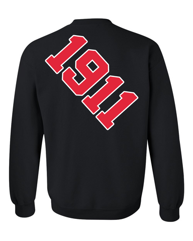 Kappa Alpha Psi Anchor Crewneck Sweatshirt (Black)