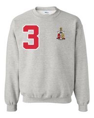 Kappa Alpha Psi Anchor Crewneck Sweatshirt (Grey)