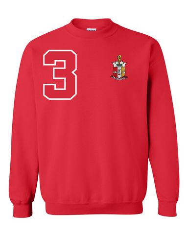 Kappa Alpha Psi Anchor Crewneck Sweatshirt (Red)