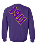 Omega Psi Phi Anchor Crewneck Sweatshirt (Purple)
