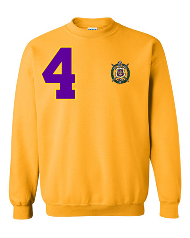 Omega Psi Phi Anchor Crewneck Sweatshirt (Gold)