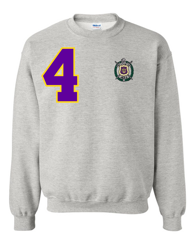 Omega Psi Phi Anchor Crewneck Sweatshirt (Grey)