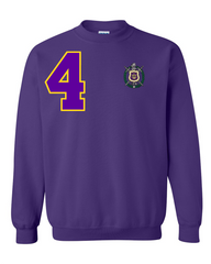 Omega Psi Phi Flagship Crewneck Sweatshirt (Purple)