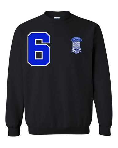 Phi Beta Sigma Anchor Crewneck Sweatshirt (Black)