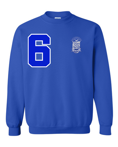 Phi Beta Sigma Anchor Crewneck Sweatshirt (Blue)