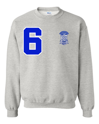 Phi Beta Sigma Anchor Crewneck Sweatshirt (Grey)