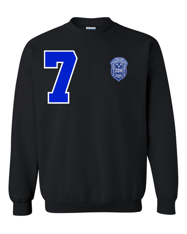 Zeta Phi Beta Anchor Crewneck Sweatshirt (Black)