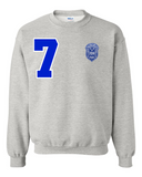 Zeta Phi Beta Flagship Crewneck Sweatshirt (Grey)