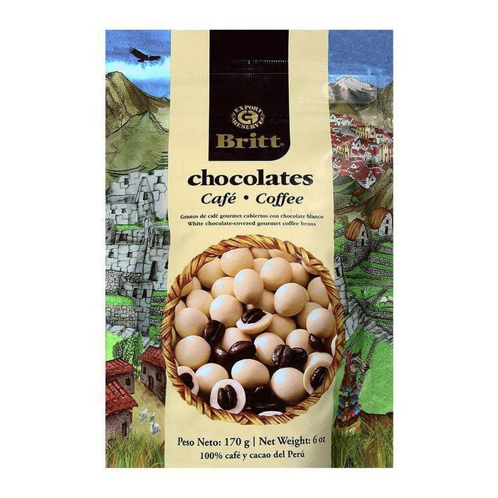 Cafe Britt White Chocolate covered Coffee Beans 6oz