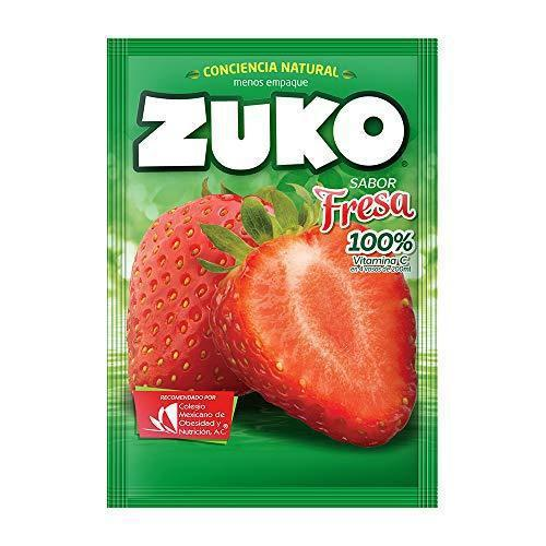 Zuko Instant Strawberry Flavor Drink 35g.