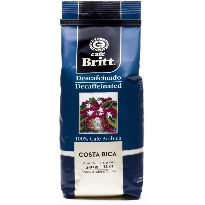 Cafe Britt Coffee Decaff 12 oz