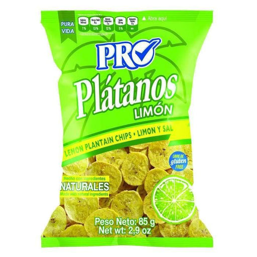 Platano Chips plantain with lemon and salt 3-1 oz Pro Snacks