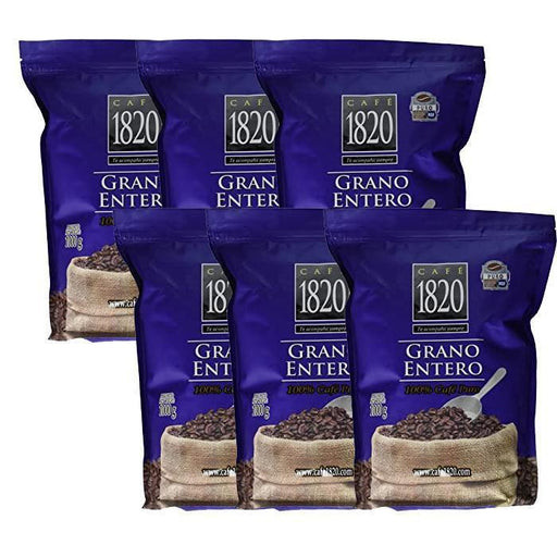 6-pack Cafe 1820 Coffee 2.2 lb Whole Bean