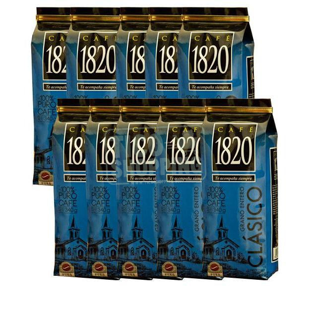 Cafe 1820 Coffee 12oz Whole Bean 10-pack