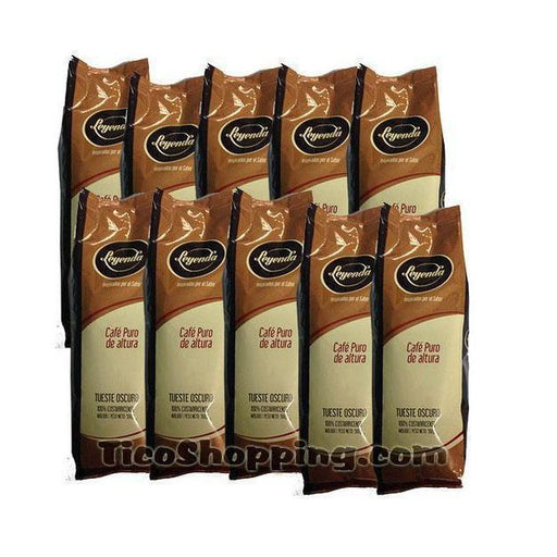 Cafe Leyenda Dark Roasted Coffee 10-pack 1 lb (ground)