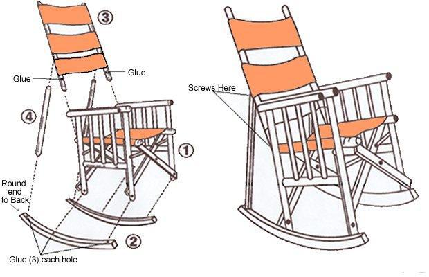 High Back Rocking Chair Tucan Design