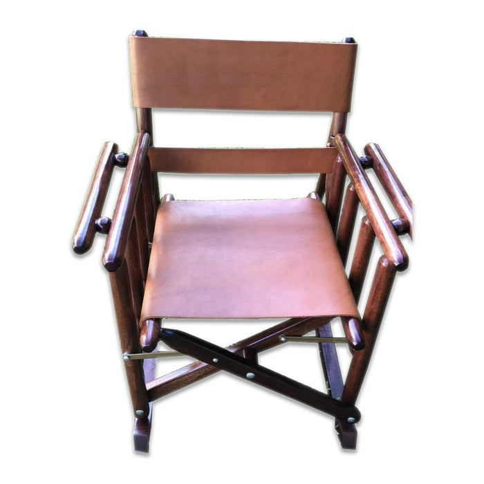 Child Plain Leather Rocking Chair