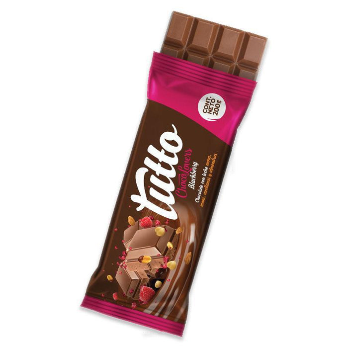 Tutto Blackberry Milk Chocolate Bar 7oz