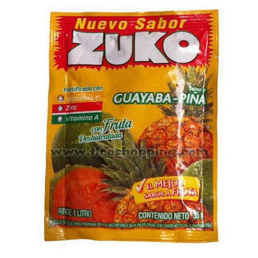 Zuko Instant Guava and Pineapple Flavor Drink 35g.