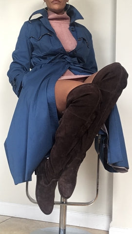 Brown high knee boots by Frye