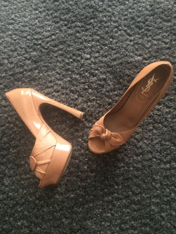 YSL Nude Pumps - Fashion Flair Bazaar - Sustainable Fashion 2