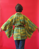 Vintage Green & Yellow Wheat fields* Kimono Haori
