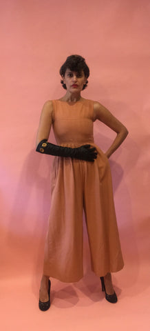 Vintage Rusty Colored Palazzo Jumpsuit