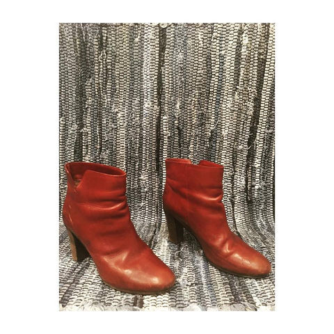 Burgundy Roberto Del Carlo Ankle Boots