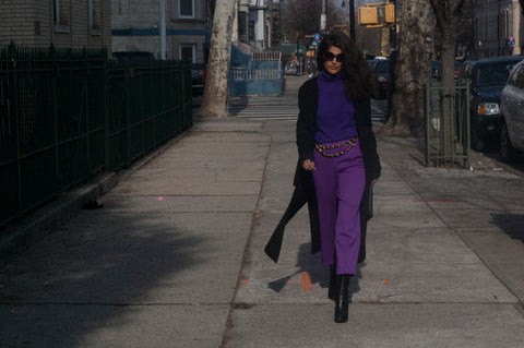 Purple Vintage Valentino Pants - Fashion Flair Bazaar - Sustainable Fashion