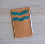 Load image into Gallery viewer, Ocean Ave | Leather Zipper Wallet