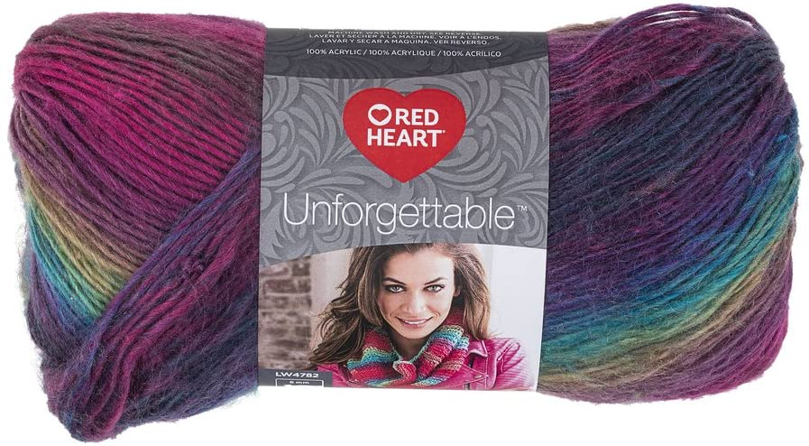 Red Heart Unforgettable Yarn - Stained Glass