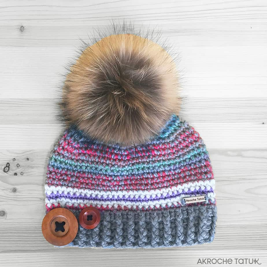 Prêt-à-porter: Tuque Rustik - Gris et perroquet (Collection Unforgettable)