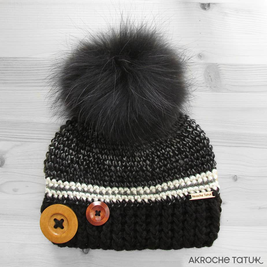 Prêt-à-porter: Tuque Rustik - Noir et bistro (Collection Unforgettable)