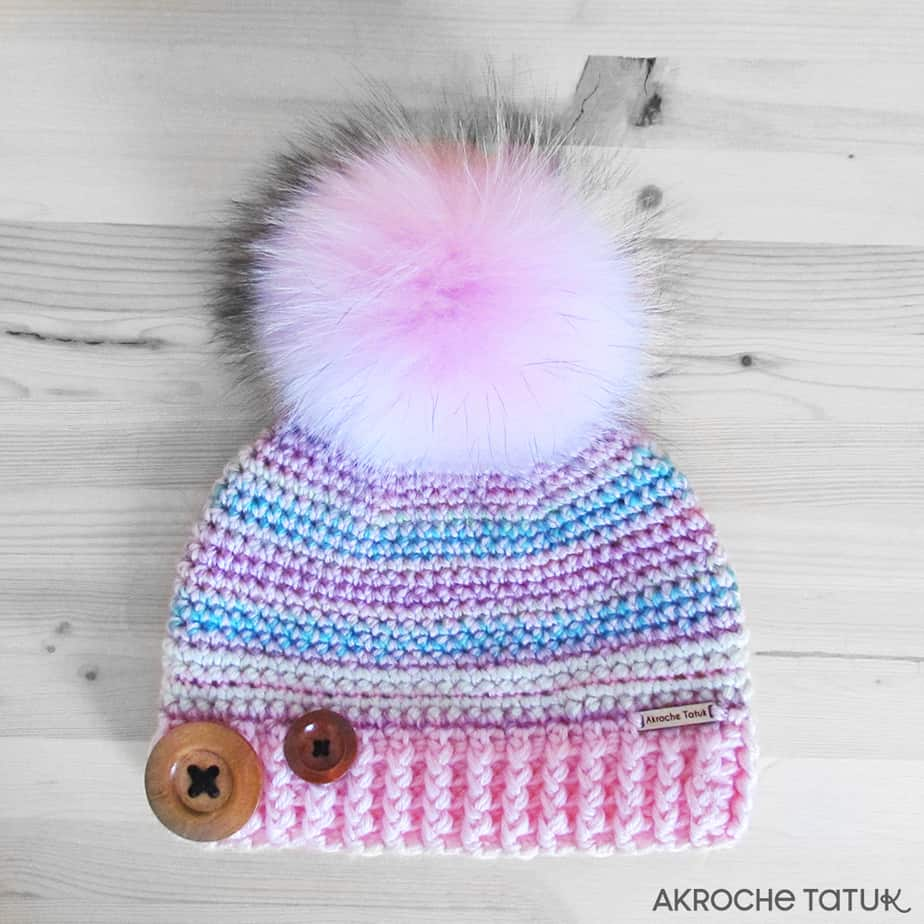 Prêt-à-porter: Tuque Rustik - Rose et bleu (Collection Unforgettable)