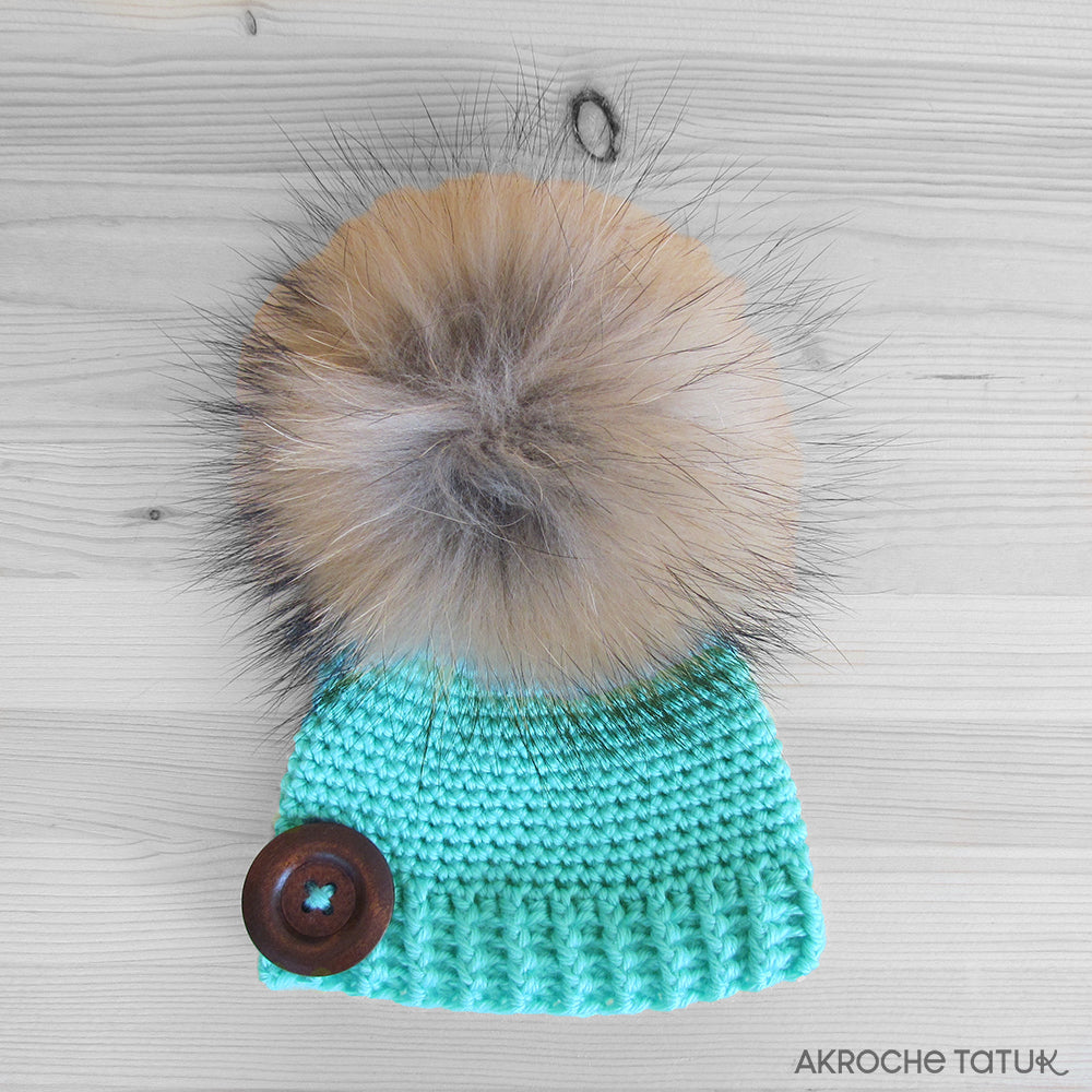 Ready-to-wear (Children) - Rustik hat in mint (fall and spring)