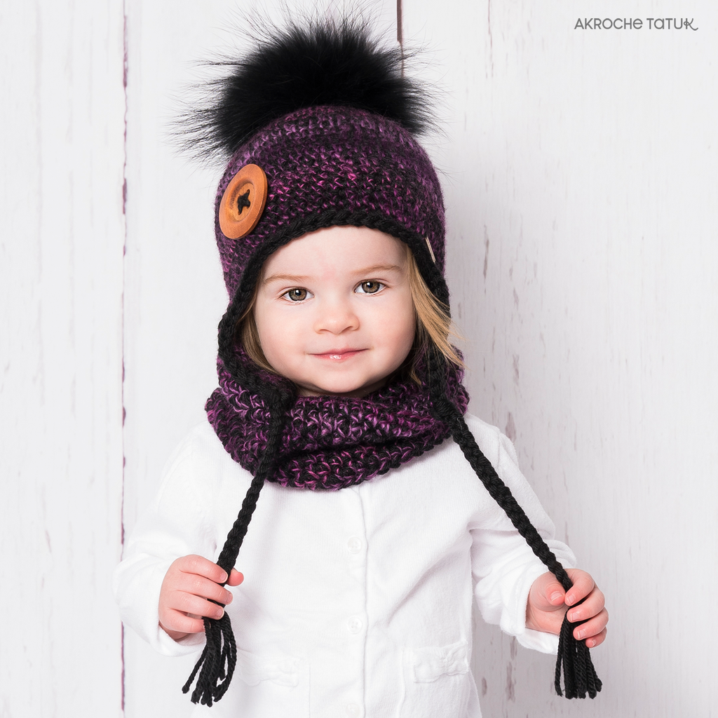 Ready-to-wear (Children) - Boreal kit in black and petunia