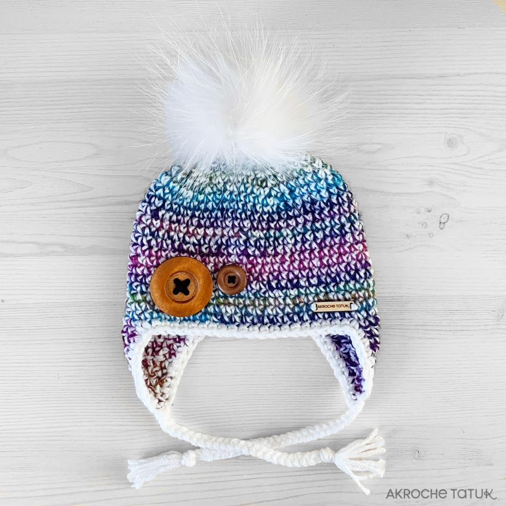 Prêt-à-porter Enfant: Tuque Boréale - Blanc et gaze (Collection Unforgettable)