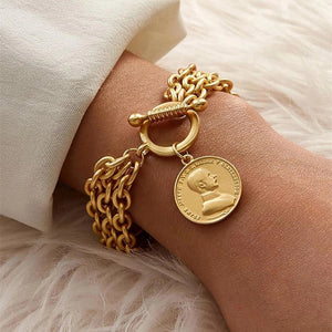 Fly Me To The Moon Coin Bracelet