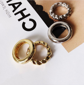 Female CEO Vibes Statement 2Pieces/Set Rings
