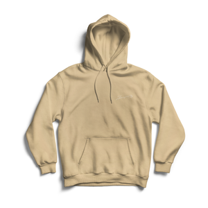 ZG EMBROIDED SIGNATURE HOODIE BEIGE (AVAILABLE FOR DELIVERY 07/01/2021)