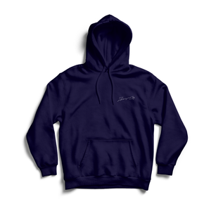 ZG EMBROIDED SIGNATURE HOODIE NAVY (AVAILABLE FOR DELIVERY 07/01/2021)