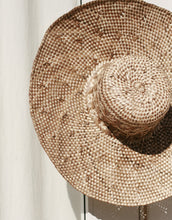 Load image into Gallery viewer, Borneo Tata Anjat Straw Hat, in Beige