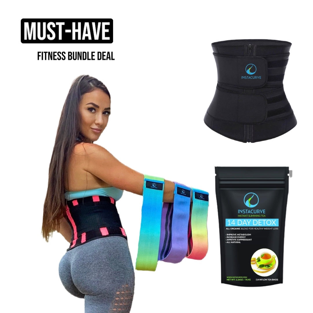 Waist Slimmer Belt 1018, Glute Bands, Detox Tea Bundle Deal
