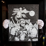 "Copy of ""Space Battle"" -Rad Biker UNFRAMED"