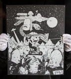 """Space Battle"" -Rad Biker FRAMED"