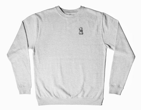 1AM Crewneck Sweater - Light Grey