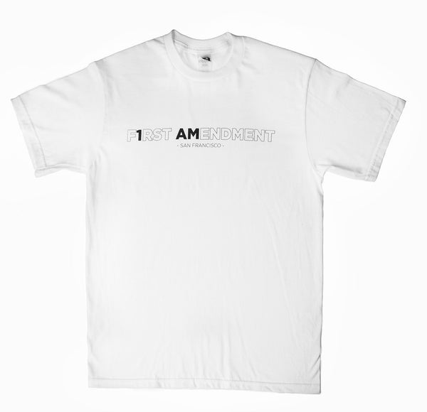 First Amendment x 1AM T-Shirt - White