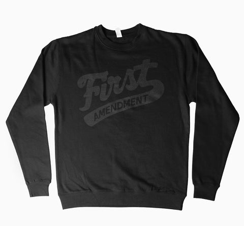First Amendment Crewneck Sweater - Black