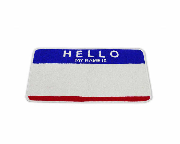 Egg Shell Rug - Red / Blue Hello